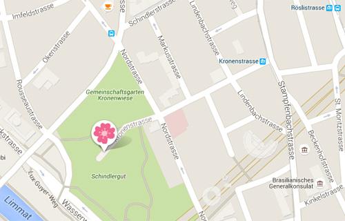 emplacement du groupe de jeu à Zurich